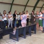 het koor van de sing-in