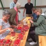 Hoe je cake met aardbeien
